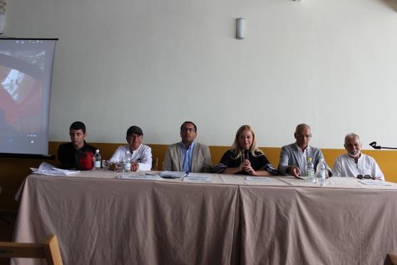 Felipe Barreto Delgado, Osmundo Delgado Martín, (Pte Capirotes) Fernando Díaz Medina, Alcaldesa de Santa Brígida, Pedro Socorro Santana, Juan Sixto