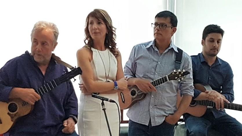 Benito Cabrera, Marga Abreu, Domingo Rdez y Tomás Fariña